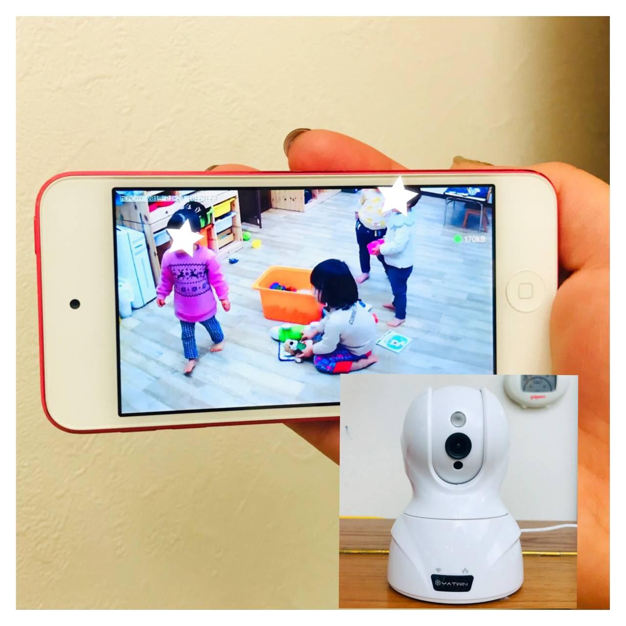 保育室内のwebカメラ